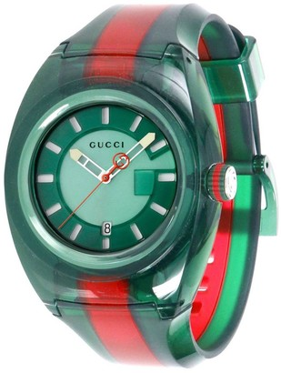 Gucci Watch Sync Watch Web Case In Transparent Pvc