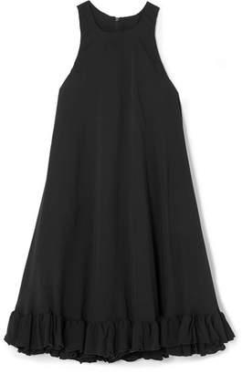 MSGM Ruffled Cady Mini Dress - Black