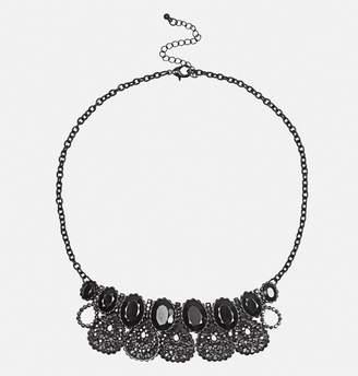 Avenue Black Vintage Statement Necklace