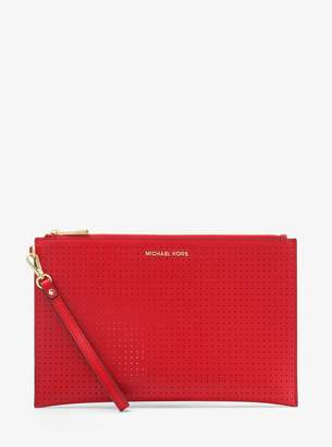 MICHAEL Michael Kors Jet Set Extra-Large Perforated Leather Clutch