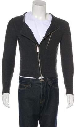 Burberry Asymmetrical Wool-Blend Sweater