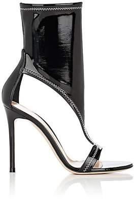 Gianvito Rossi Women's Cutout Vinyl Sandals - Black