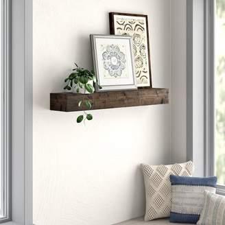 Mistana Kaydence Wood Floating Shelf