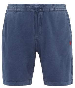 Polo Ralph Lauren Logo Embroidered Washed Cotton Jersey Shorts - Mens - Navy