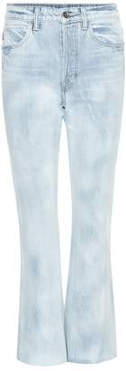 Helmut Lang High-rise Raw Crop jeans