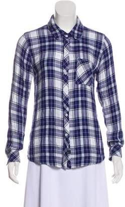 Rails Plaid Button-Up Top