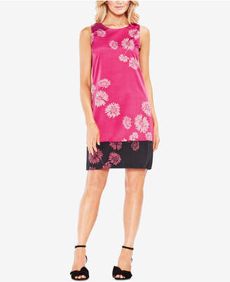 Vince Camuto Printed Colorblocked Shift Dress
