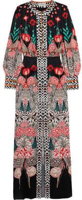 Temperley London Blaze Printed Silk-satin Gown - White