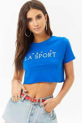 Forever 21 LA Sport Graphic Cropped Tee