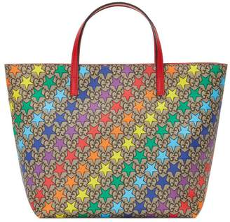 Gucci Children's GG rainbow birds tote