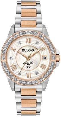 Bulova Womens Two Tone Bracelet Watch-98r234 $575 thestylecure.com
