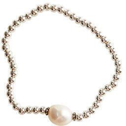 Lush Designs Womens Bracelets Tayah Keshi Sterling Silver Pearl Bracelet Silver