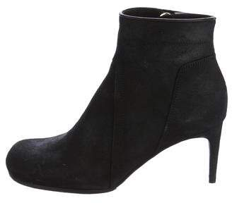 Rick Owens Round-Toe Suede Ankle Boots