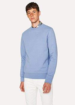 Paul Smith Men's Sky Blue Organic-Cotton Sweatshirt