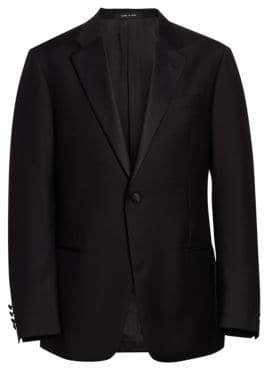Emporio Armani Men's G-Line Classic Wool Notch Lapel Tuxedo - Black - Size 48 (38) R