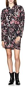 Isabel Marant Women's Toa Floral Crepe Minidress - Black