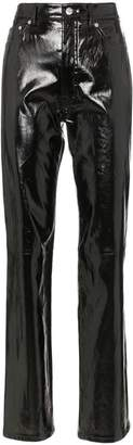 Helmut Lang Straight leg patent leather trousers