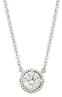 Hearts On Fire Women's 18K White Gold & Diamond Circular Pendant Necklace
