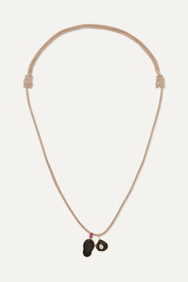 Dezso by Sara Beltrán Leather Multi-stone Necklace - Rose gold