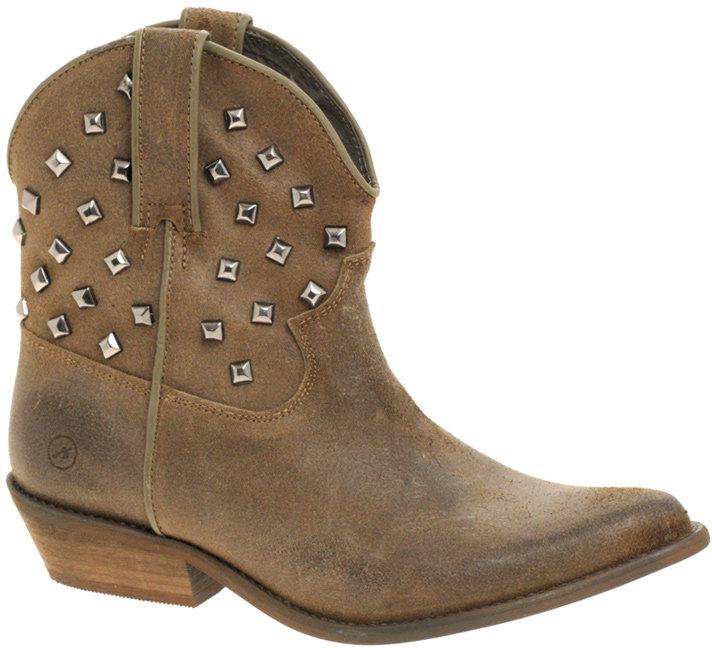 Bronx Luke Studded Low Cowboy Boots