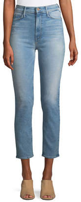 Mother Dazzler Straight-Leg Ankle-Length Jeans