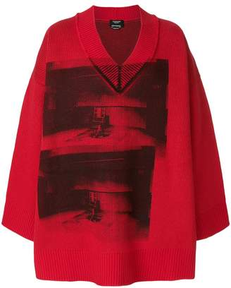 Calvin Klein x Andy Warhol Foundation Little Electric Chair v-neck jumper