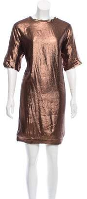 Lanvin Metallic Mini Dress