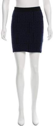 Alice + Olivia Wool Mini Skirt