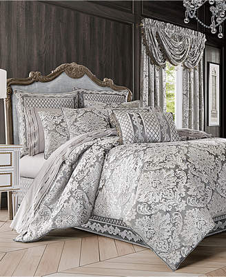 J Queen New York Bel Air 4-Pc. Silver California King Comforter Set Bedding
