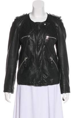 Isabel Marant Leather Motto Jacket