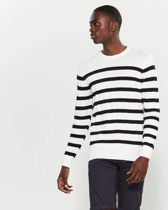 Kronstadt Sailor Stripe Long Sleeve Sweater