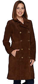 C. Wonder Double Breasted Suede Trench Coat