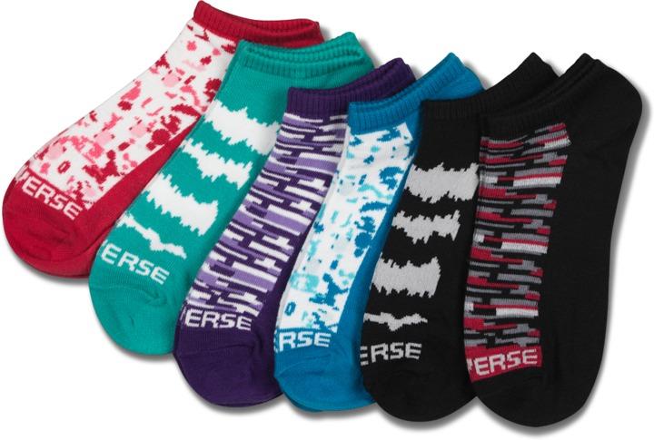 Converse Women's Patterned Sock 6pk