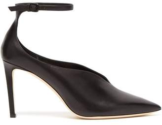 54a01a6e1840 COM · Jimmy Choo - Sonia 85 Point Toe Ankle Strap Pumps - Womens - Black