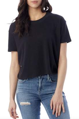 Alternative Apparel Black Crop Tee