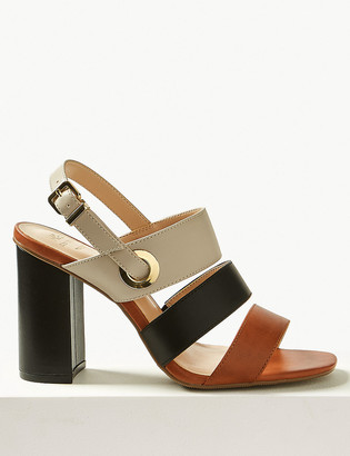 Marks and Spencer Wide Fit Multi Strap Slingback Sandals