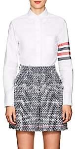 Thom Browne Women's Fringed Cotton Oxford Shirt-White