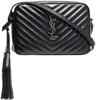 Saint Laurent Black Lou Quilted Leather Shoulder Bag