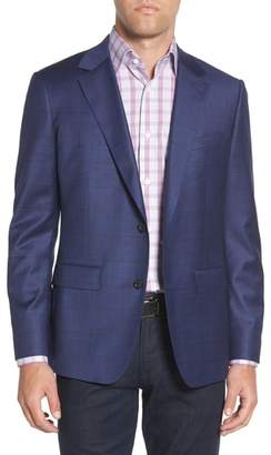 Bonobos Jetsetter Slim Fit Stretch Windowpane Wool Sport Coat