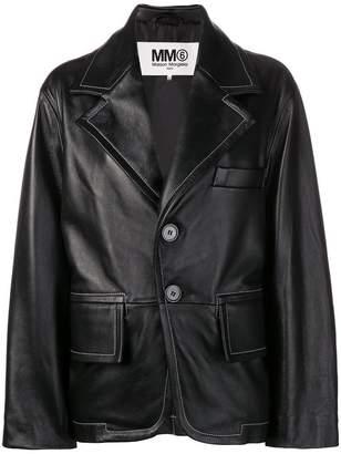 MM6 MAISON MARGIELA loose-fit leather jacket