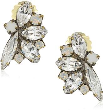 "Sorrelli Pearl Luster"" Fanned Navette Crystal Post Earrings"