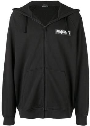 Napapijri logo patch zipped hoodie