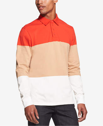 DKNY Men's Colorblocked Rugby Stripe Polo