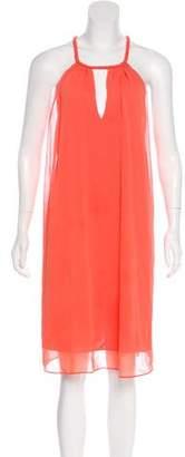 Alice + Olivia Knee-Length Halter Dress