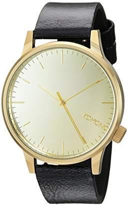 Komono Unisex Analogue Quartz Watch with Genuine Leather Strap – KOM-W2891