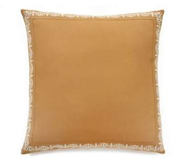 Lemon Tree Agra European Pillow Sham in White/Gold