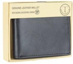 Montauk Leather Club Men's RFID Signal Blocking Genuine Leather Traveller Wallet with Gift Box
