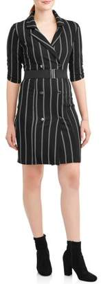 Almost Famous Juniors' Belted Blazer Dress