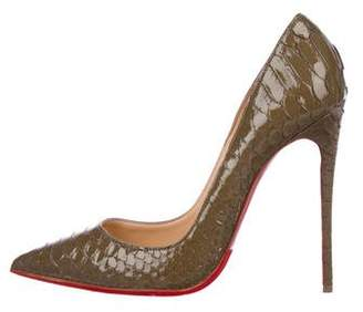 Christian Louboutin Python Pointed-Toe Pumps