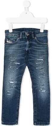 Diesel ripped slim jeans